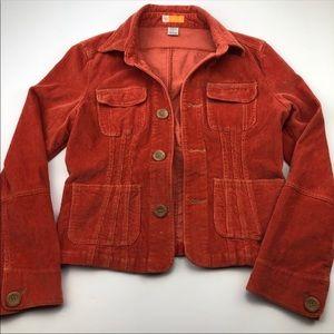 Burnt Orange Corduroy Jacket EUC Large